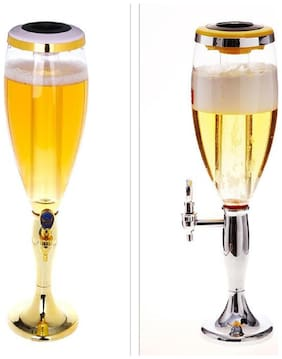 Grand Party Beer Tower/Dispenser/Decanter for Beer/Whisky/Wine with Sparkling Multi Colored LED Lights Capacity 3000 ml (3 litres) for Party/Home Bar/Gift/Bars/Pubs