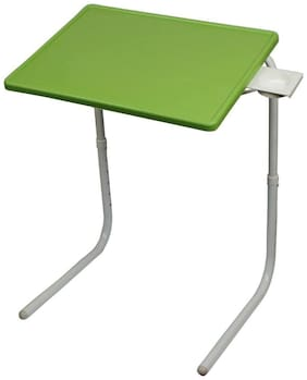 Graphitos Multi utility Purpose Portable And Adjustable Table Mate And Foldable Table Mate With Cup Holder - Green Color