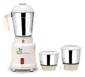 Green Home Lotto Mixer Grinder 450W With 3 Stainless steel Jar (White)