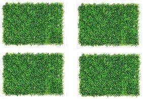 Green Plant Indoor Artificial Wall Grass Mat Natutal Look