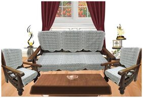 Griiham Polyester Abstract Diwan Sets