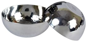 "SMART ""SERVE"" Groove  stainless steel  high quality  18/10 grade Katori 150ml set of 6pcs dia 8.5cms Hammered design high quality attractive Katori."
