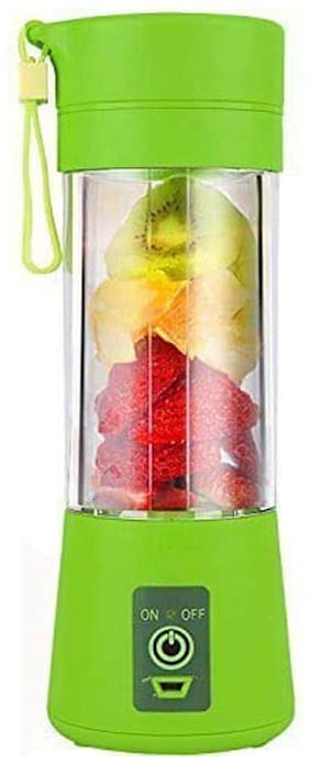 GTC 4 Blades Portable Rechargeable USB Juicer Bottle Blender with Charging Cable 380 ml