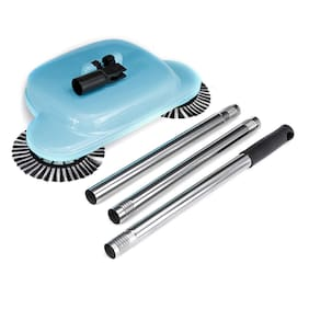 GTC Automatic Brooms 360 Rotary Home Use Magic Manual Telescopic Floor Dust Sweeper (Blue) (7184)