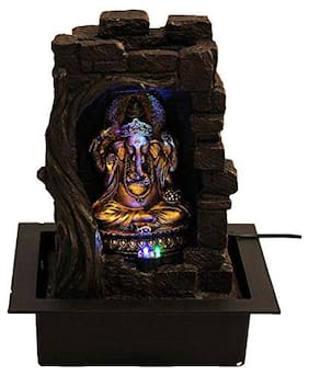Gtc Beautiful Lord Ganesha Water Fountain Shree Ganesha Show Piece For Home Decorative Diwali Gifts