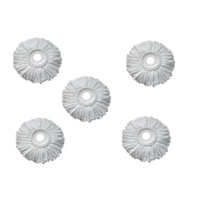 GTC Pack of 5 Replacement Head Refill for 360 Rotating Easy Spin Mop Cleaner Duster