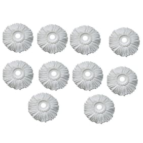 GTC Pack of 10 Replacement Head Refill for 360 Rotating Easy Spin Mop Cleaner Duster