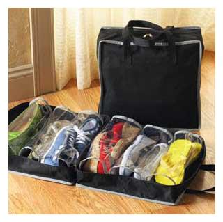 GTC Shoe Tote Storage Bag Shoes Organizer Hold 6 Pairs of Shoes Mahroon  280 1