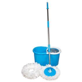 GTC Floor Cleaner Steel Mop With 2 Microfiber Heads (Multi color)
