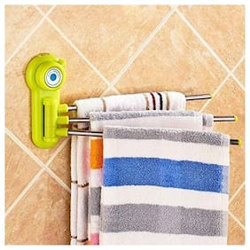 GTC Three Arm 180 deg Stainless Steel Towel/Socks Hanger (Color May Very) (811-22)