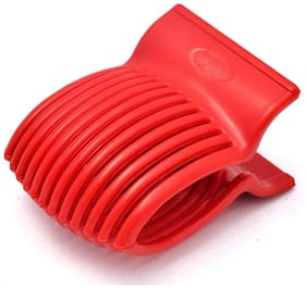 GTC Tomato Slicer Gadgets Kitchen Tools Plastic from Potato Onion Fruits Vegetables Tomato Slicers Cutter Slicer Cup Holder - Red (IT N - 561)