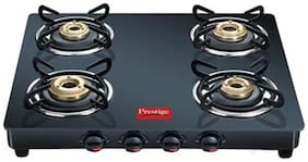 Prestige Marvel 4 Burner Regular Black Gas Stove , ISI Certified