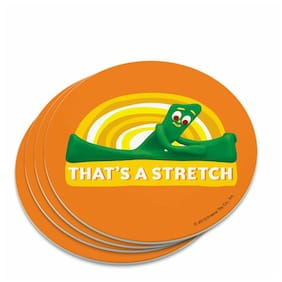 Gumby Stretching That's A Stretch Exercise Novelty Coaster Set