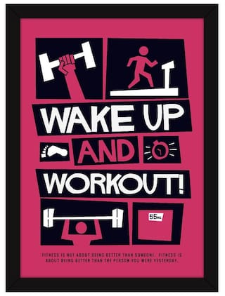 Buy Gym Posters Framed |Motivational Reminder For Fitness And Health