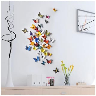 H1-002 multicolour butterfly Wall Sticker JAAMSO ROYALS