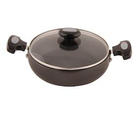 Prestige Hard Anodised Cookware Saute Pan, 200 mm, Black