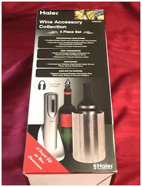 Haier Wine Accessory Collection 4 Piece Set Rotates w/Color Changing Lights