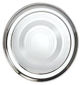 Half 1 Piece;Stainless Steel Dinner Plate;20 cm