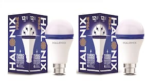 Halonix 12W Turbo Rechargeable Inverter Led Bulb B22 Cool day Light (Pack Of 2)