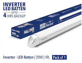 Halonix 20W Inverter Rechargeable Cool White Led Batten Pack Of 1