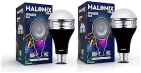 Halonix 9W Led Bulb With Bluetooth Speaker Pack Of 2
