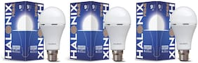 Halonix 9W Rechargeable Inverter Led Bulb B22 Cool day Light (Pack Of 3)