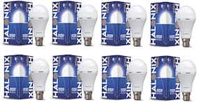 Halonix 9W Rechargeable Inverter Led Bulb B22 Cool day Light (Pack Of 8)