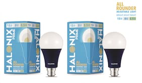 Halonix All rounder wattage 15W;8W;0.5W Led Bulb Pack of 2