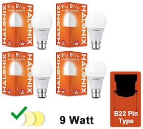 Halonix Led Bulb Astron Star 9 W B22 (Pack Of 4)