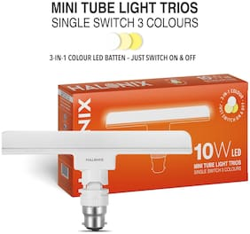 Halonix (3 in 1 color) 10-W Trios Base B22 LED T-Light
