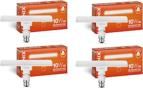 Halonix T-Light Trios Base B22 10-W 3 In 1 Colour LED Tube Light (Pack of 4)
