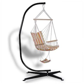 Hammock Stand Heavy Duty Steel C-Shaped Frame For Patio Hanging Chairs Swings