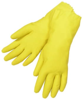 Hand gloves for kitchen (1 Pair) Wet and Dry Glove Wet and Dry Glove  (Free Size) (Pair of 1) Yellow