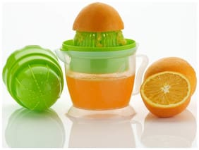Hand Press Multi Juicer Orange, Pomegranate, Grapes, Watermelon, Etc fruit juicer -Two Way Spin for Maximum Juice Yield ( Assorted Color )