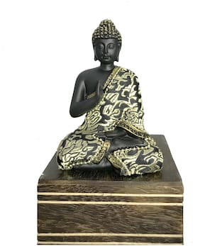 Handcrafted Thinking Buddha Polyresin Statue