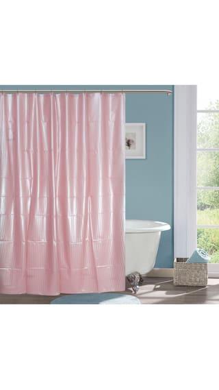 Handloom Villa Plain Shower Curtain Pack Of 1 Pcs