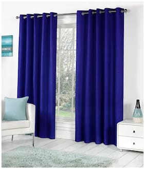 Handloomvilla plain eyelet door curtain (pack of 4)