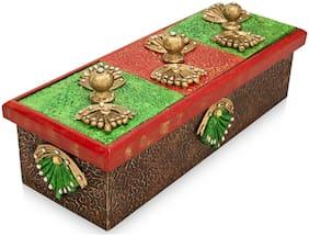 "Handmade Decorative Diwali Home Decoration Multi-Purpose Wooden Dry Fruits Box /Spice Wooden Box /Tea Storage Box/Sweet Storage Box/Ferris Wheel Dry fruits box/Jewelry Storage Box 12"" * 4"" Inch"