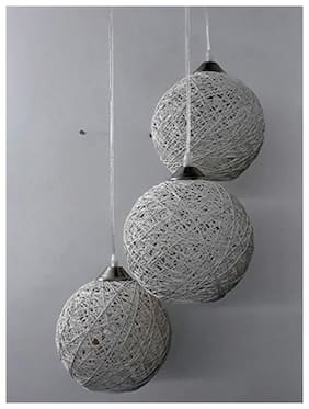 Oriona Lit brite Plastic Modern White Ceiling lamps ( 1pc )