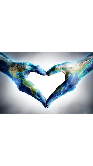 Buy hands shaped heart with world map large size 299 x 200 hands shaped heart with world map large size 299 x 200 unframed artistic gumiabroncs Image collections