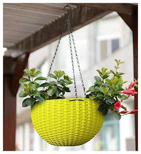 Hanging Flower Pot, Plant Containers Basket with Hook Chain for Home Gardener Grower Planter Indoor/Outdoor Decoration