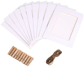 Desi Rang Paper White Collage picture frame ( Set of 10 )