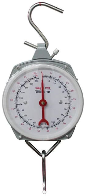 Hanging Spring Kitchen Dial Scale 100 Kg (Multicolor) 1Pc