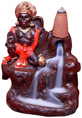 Hanuman ji murti Aashirwad Idol Backflow Incense Burner With 10 Cones Free