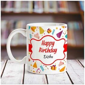 Happy Birthday Disha name coffee mug