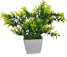 Happy Stoning Artificial Bonsai Plant in Pot Height 24cm