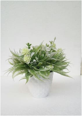Happy Stoning Artificial Plant with Pot Height 14cm