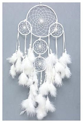 Hardik Handmade  Feather Dream Catcher Wall Hanging for Positive Energy and dreams for Room & office  Decoration