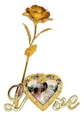 Hardik @Home Creation Golden Rose Artificial 24K Red Rose Flower For Girlfriend/Wife/Boyfriend Rose For Valentine Day Gift Red Rose For Rose Day Propose Day Friendship Day