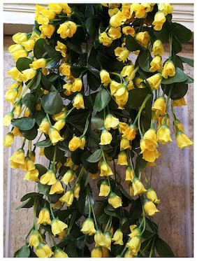 Hardik @home Creation Artificial Flower Bunch With Green Leaf For Home Decoration and office for any vase or gifting someone